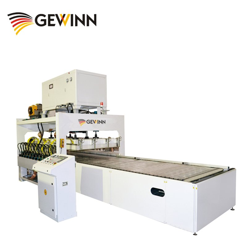Gewinn HF Vertically Lifting Jointing Machine For Wooden Board (Crawler Type) High Frequency press image16